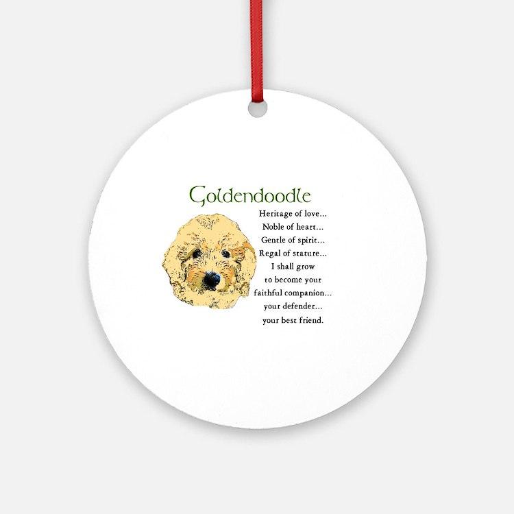 Goldendoodle Ornament (Round)
