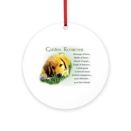 Golden Retriever Ornament (Round)