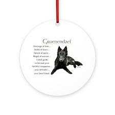 Groenendael Ornament (Round)