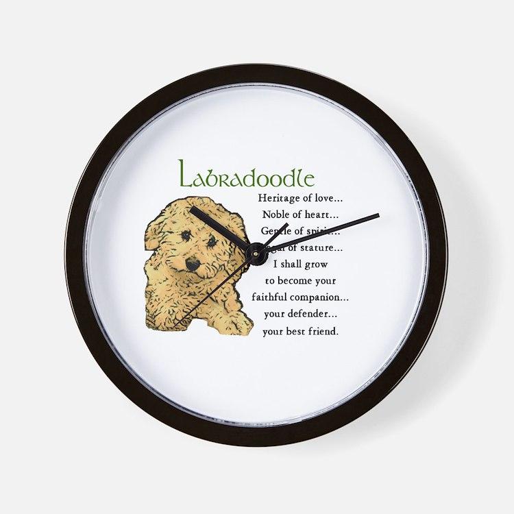 Labradoodle Wall Clock