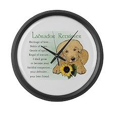Labrador Retriever Large Wall Clock