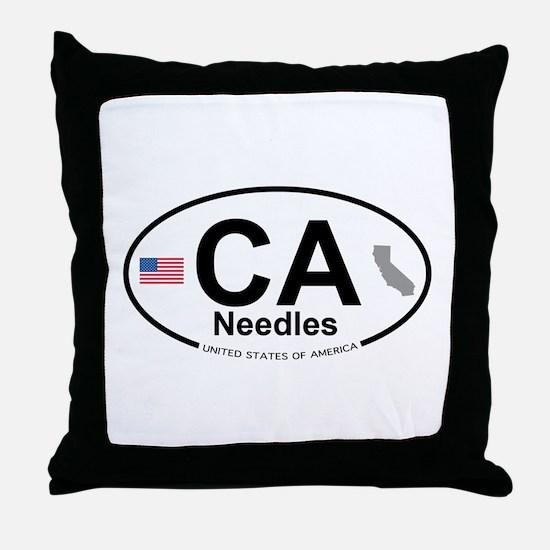 Needles Throw Pillow