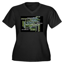 Composers Women's Plus Size V-Neck Dark T-Shirt