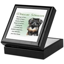 Miniature Schnauzer Keepsake Box