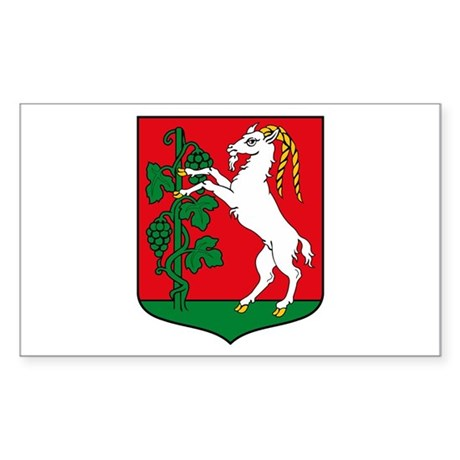 Lublin Coat of Arms Rectangle Sticker