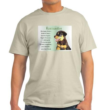 Rottweiler Puppy Gifts Ash Grey T-Shirt