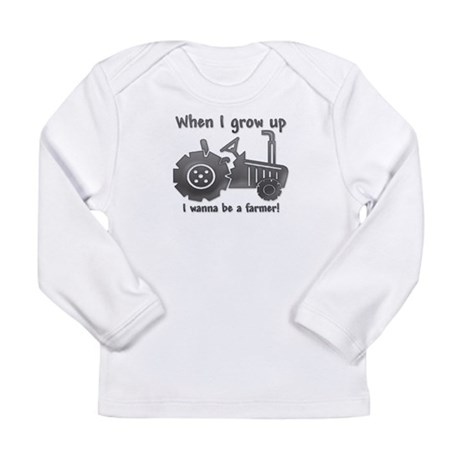 Grow Up Farmer Long Sleeve Infant T-Shirt