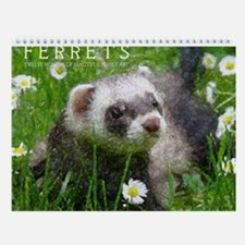 Wall Calendar - Ferret Art