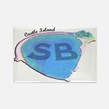 Castle Island SB Rectangle Magnet (10 pack)