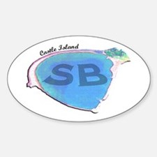 Castle Island SB Oval Decal