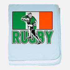 rugby ireland flag baby blanket