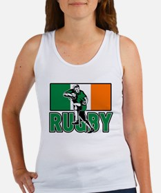 rugby ireland flag Women's Tank Top