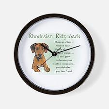 Rhodesian Ridgeback Wall Clock