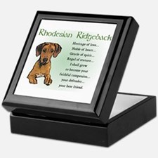 Rhodesian Ridgeback Keepsake Box