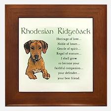 Rhodesian Ridgeback Framed Tile