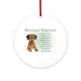 Rhodesian ridgeback Ornaments