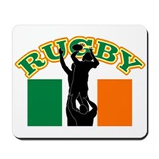 Rugby lineout ireland Mousepad