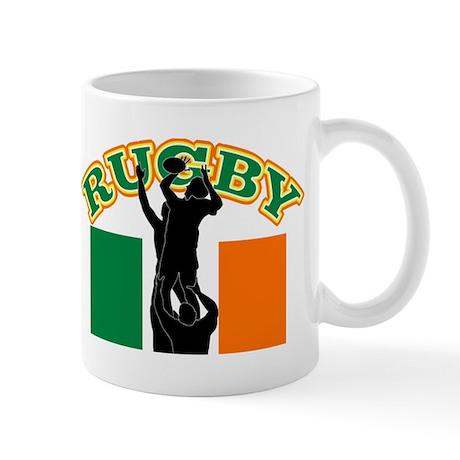 Rugby lineout ireland Mug