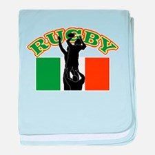 Rugby lineout ireland baby blanket