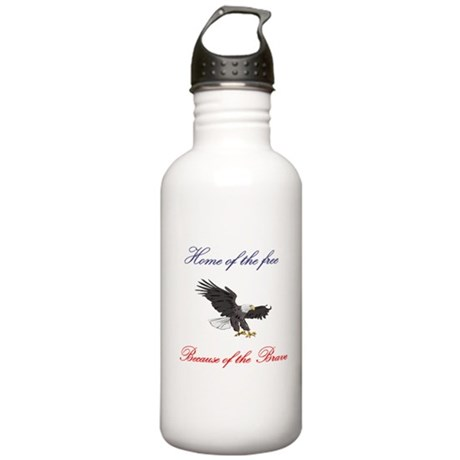 Home of the free... Stainless Water Bottle 1.0L