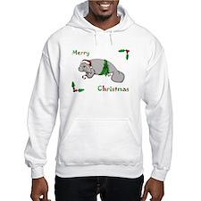 Christmas Manatee Hoodie