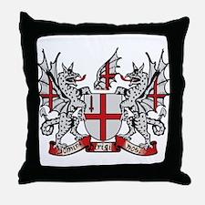 London Coat of Arms Throw Pillow