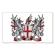 London Coat of Arms Rectangle Decal