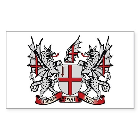 London Coat of Arms Rectangle Sticker