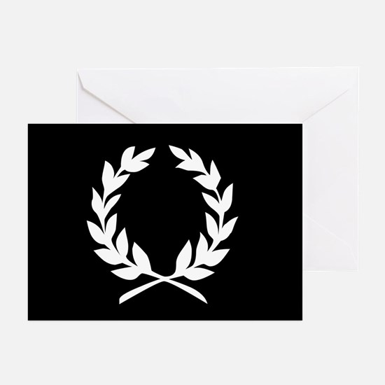 laural wreath (black): Greeting Cards (Pk of 20)