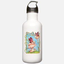Fairy Cats and Mushrooms Water Bottle