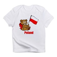 Poland Teddy Bear Infant T-Shirt