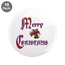 "Christmas Bells 3.5"" Button (10 pack)"