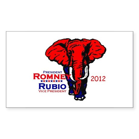 Romney Rubio 2012 Sticker (Rectangle)