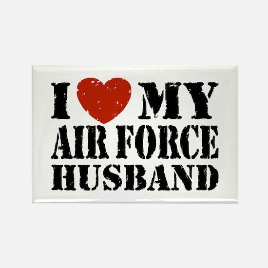 I Love My Air Force Husband Rectangle Magnet