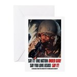 Under God! Greeting Cards (Pk of 10)