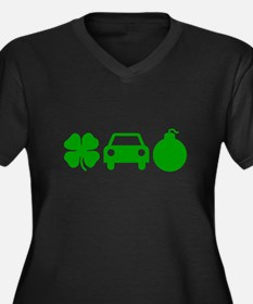 Irish Car Bomb Women's Plus Size V-Neck Dark T-Shi