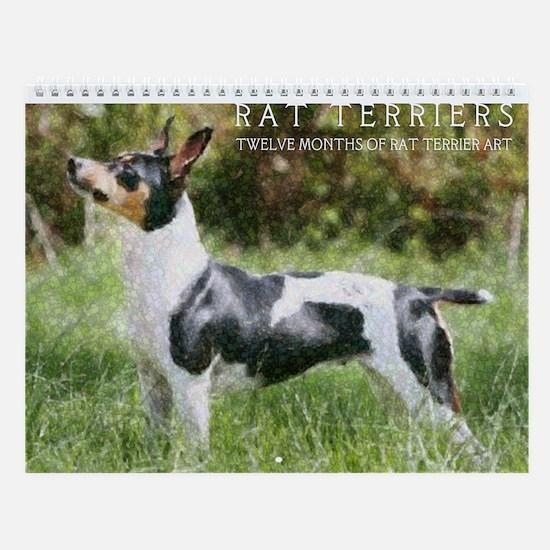 Wall Calendar - Rat Terrier Art