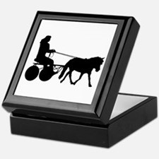 driving silhouette Keepsake Box