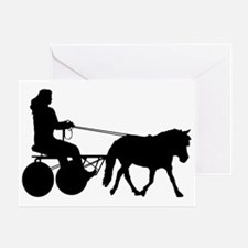 driving silhouette Greeting Card