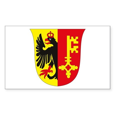 Geneva Coat of Arms Rectangle Sticker