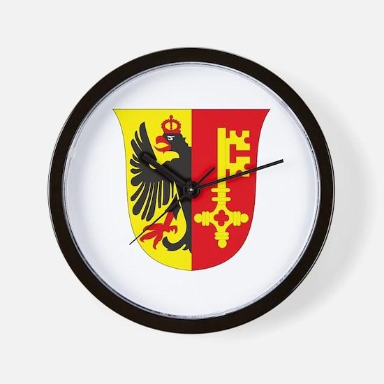 Geneva Coat of Arms Wall Clock