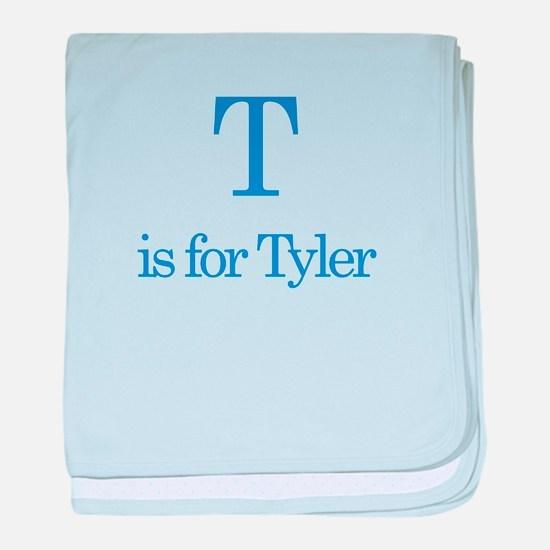 T is for Tyler baby blanket