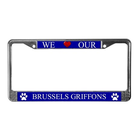 Blue We Love Our Brussels Griffons Frame