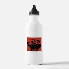 Stylish Hammer & Sickle Sports Water Bottle
