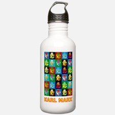 Pop Art Karl Marx Sports Water Bottle
