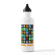Pop Art Karl Marx Water Bottle