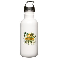 Palm Tree Russia Water Bottle