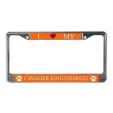 Orange I Love My Cavalier King Charles Frame