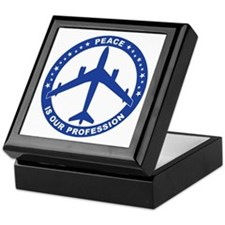 B-47 Peace Sign Keepsake Box