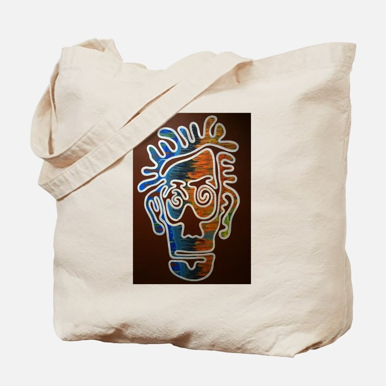 One Line Face Tote Bag